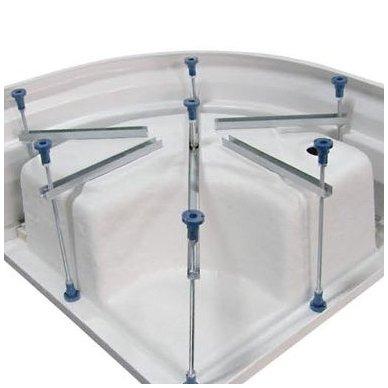 Dušo kabina Aqualine Amichetta su aukštu dušo padėklu 90x90 8