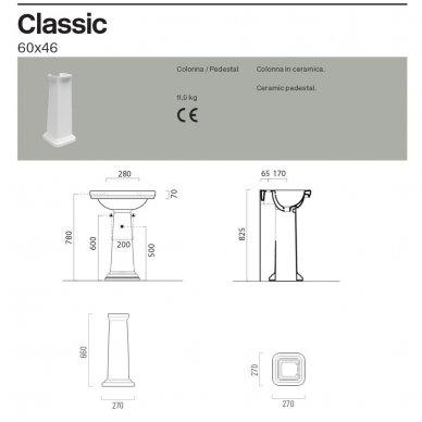 GSI Classic praustuvas 75x50cm 6