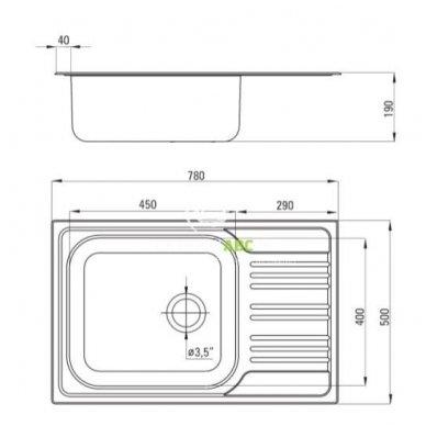 Virtuvinė plautuvė XYLO XL su maišytuvu ALPINIA 4
