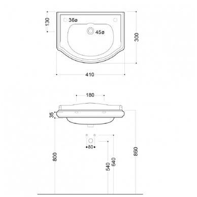 Retro vonios spintelė 8
