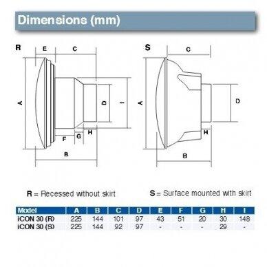 Ventiliatorius ICON 30 Airflow, Baltos Spalvos dangtelis standartinis 3