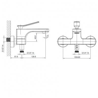 Vonios maišytuvas Jumper JM010 3