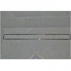 Aco dušo latakas Tile įklijuojamai plytelei horizontaliu flanšu