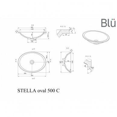 Akmens masės praustuvas STELLA Oval 2