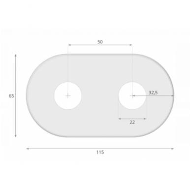 Apdailos rozetė dviguba VARIO TERM 16 - 20 mm, juoda - matinė 3