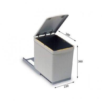 Atliekų tvarkymo šiukšliadėžė ALVEUS Albio 3