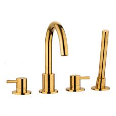 Aukso spalvos maišytuvas voniai su rankiniu dušu Omnires Y1232ZL