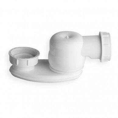 Automatinis vonios sifonas su chromo spalvos dangteliais 3