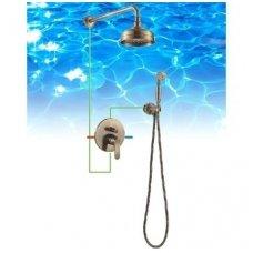 Bronzos spalvos potinkinė dušo sistema Omnires Art Deco