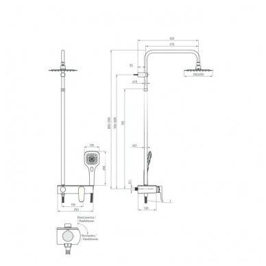 DEANTE Lobelia dušo sistema su maišytuvu 3
