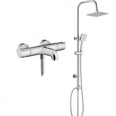 Termostatinis maišytuvas Hansgrohe Ecostat su dušo sistema Deante Floks