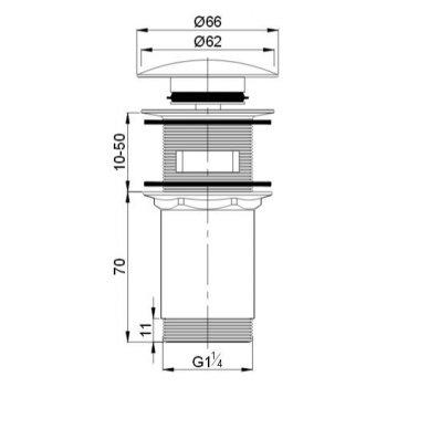 Dugno vožtuvas praustuvui A706BR automatinis 2