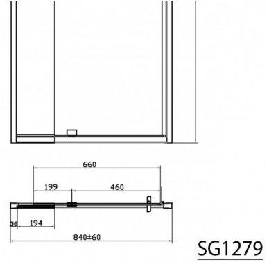 Dušo durys į niša Gelco Sigma 12