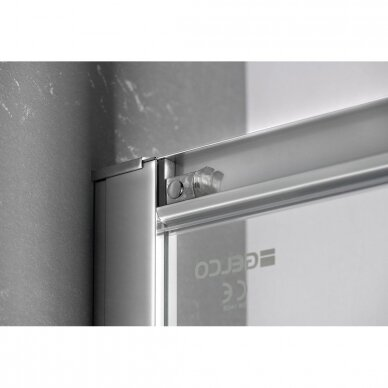 Dušo durys į niša Gelco Sigma Simply 120cm, skaidrus stiklas 4
