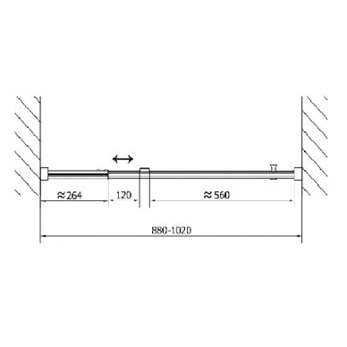 Dušo durys į nišą Polysan Easy Line 880-1020mm 7