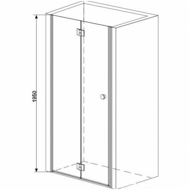 Dušo durys į nišą SMARTFLEX Sanotechnik 3
