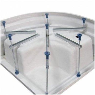 Dušo kabina Aqualine Amichetta su aukštu dušo padėklu 80x80cm 6