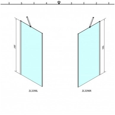 Dušo kabina Polysan Zoom Line 90x90cm 2