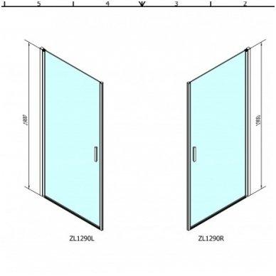 Dušo kabina Polysan Zoom Line 90x90cm 3