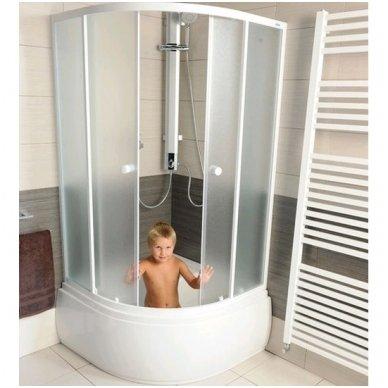 Dušo kabina Aqualine Amichetta su aukštu dušo padėklu 90x90