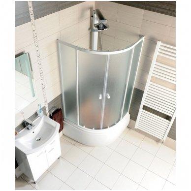 Dušo kabina Aqualine Amichetta su aukštu dušo padėklu 90x90 2