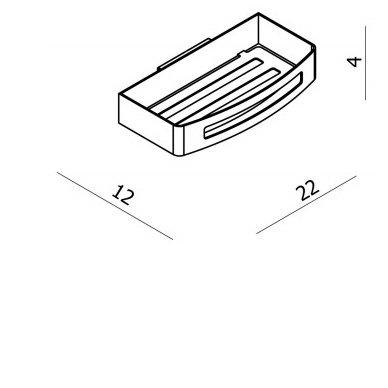 Dušo lentynėlė SMART  22x4x12 cm  BL751 2