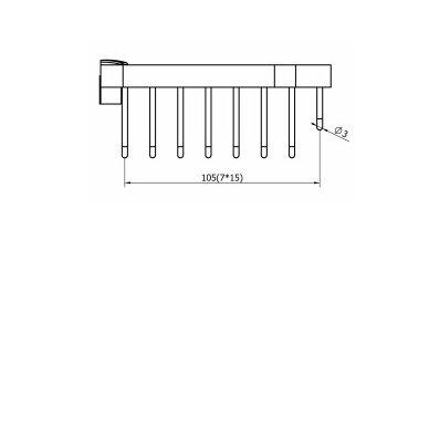 Dušo lentynėlė SMART  26x12x5 cm 3