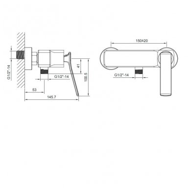 Dušo maišytuvas Jumper JM011 2