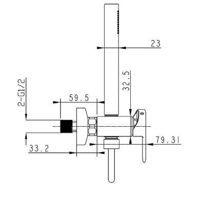 Dušo maišytuvas Sapho Mixona MG311 3