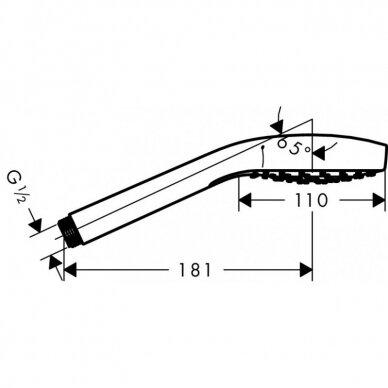 Hansgrohe dušo komplektas Croma Select S 1jet/Porter S 4