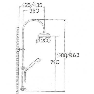 Dušo sistema Reitano Antea SET036 su dušo maišytuvu 5