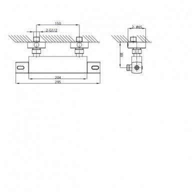Dušo termostatinis maišytuvas Mixona MG411 6