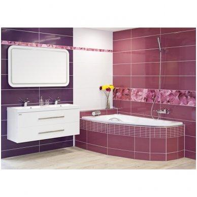 Dviguba vonios spintelė Cube 120x40cm su praustuvu 4
