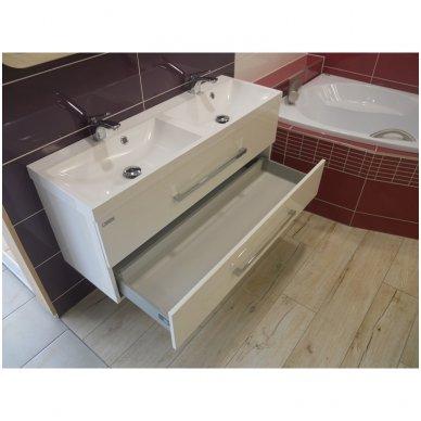 Dviguba vonios spintelė Cube 120x40cm su praustuvu 7