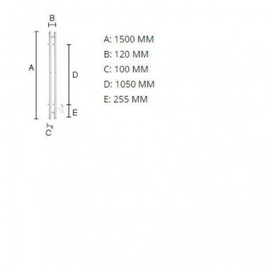 Elektrinis džiovintuvas Smedbo 120 x 1500 mm, FK712 2