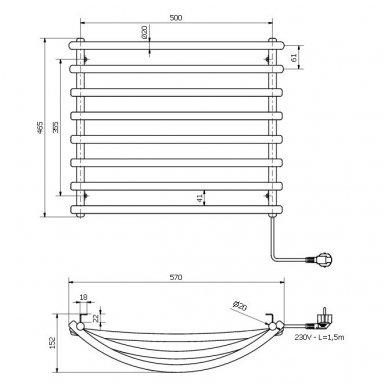 Elektrinis rankšluosčių džiovintuvas Sapho SU110 4
