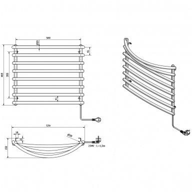 Elektrinis rankšluosčių džiovintuvas Sapho SU110A 5