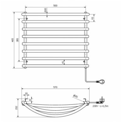 Elektrinis rankšluosčių džiovintuvas SU210 4