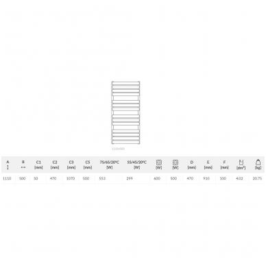 Elektrinis rankšluosčių džiovintuvas Terma Warp T dešininis 2