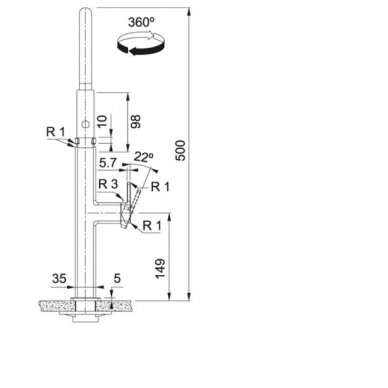 Franke Centinox Semi-pro virtuvinis maišytuvas su ištraukiama žarna 3