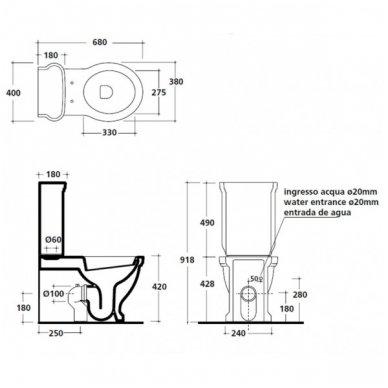 Galassia Ethos pastatomas tualetas 3
