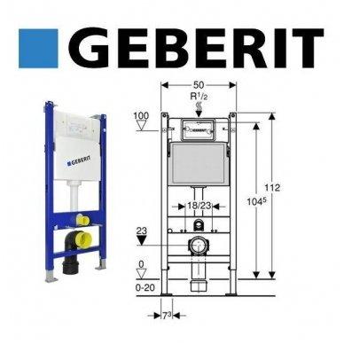 Geberit WC potinkinio rėmo DuofixBasic komplektas 2