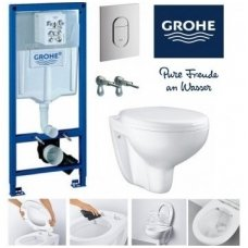 GROHE Bau Rimless WC komplektas Arena