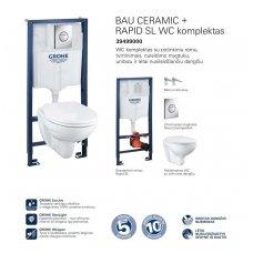 GROHE Bau Rimless WC komplektas 39499000