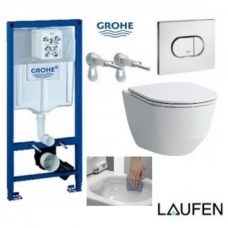 GROHE ir Laufen Pro New Rimless komplektas