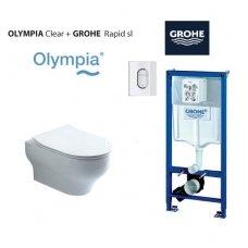 Grohe potinkinio rėmo su Olympia wc komplektas