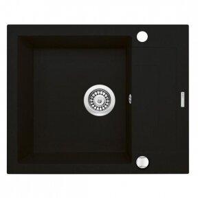 Granitinė virtuvinė plautuvė Deante Rapido juodos spalvos