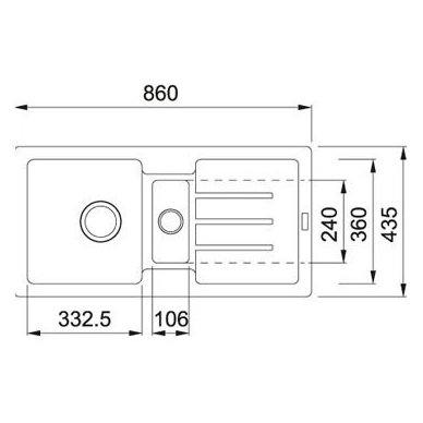 Granitinė plautuvė Franke Strata STG 651-86 3