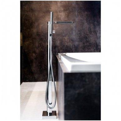 Grindinis vonios maišytuvas su rankiniu dušu Ravak Chrome 2