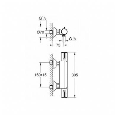 GROHE Grohtherm 800 termostatinis dušo maišytuvas 2